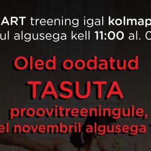 Tule TASUTA proovitreeningule