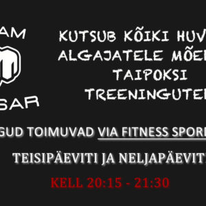 Via Fitness alustab Taipoksi treeningutega