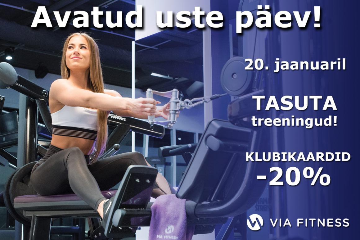 Via Fitness alustab uut aastat avatud uste päevaga. Tasuta treeningud ja 20% soodustus liikmetasudelt!